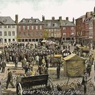 Tuesday Market Place in King's Lynn - one of the images from new book Lost King's Lynn by Paul Richards