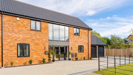 Large brick and glass fronted semi detached property in Strumpshaw, Norfolk, which is for sale