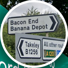 Main image: Uttlesford District Council; Inset: Sign for the Banana Depot in Little Canfield, Essex