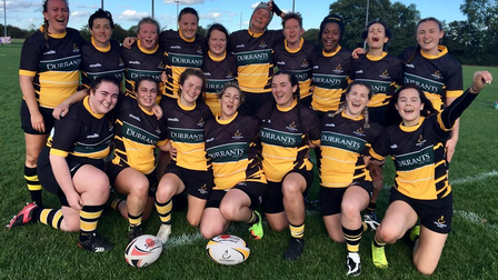 The Southwold Women's rugby team