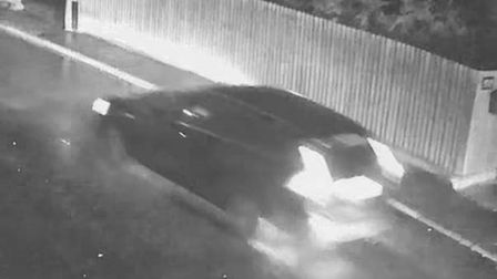 Police are searching for the driver of this car in connection with a hit-and-run