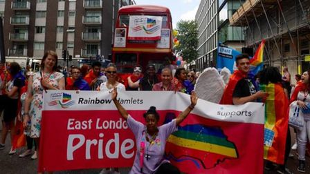 East London gay community at the2015 London Gay Pride march