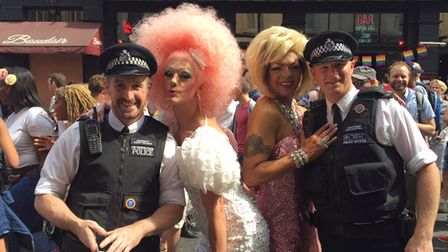 Even cops join the fun at 2015 London Gay Pride march