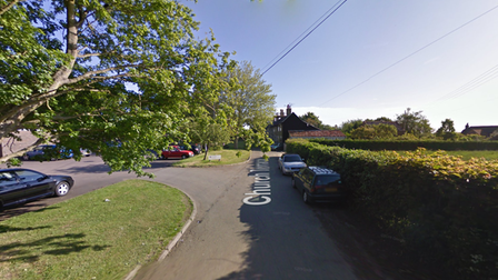 The indecent exposure took place in Church Terrace in Wickham Market