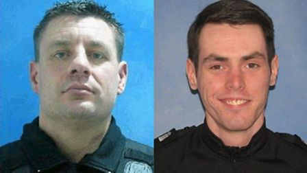 Two Suffolk police officers have been nominated for a national police bravery award