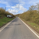 A two vehicle crash is causing delayson an A14 slip road