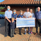 At the cheque presentation at Hingham Surgery