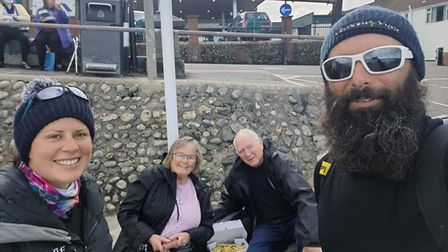 Ex serviceman, Chris Lewis, who hasbeen walking the UK's coastline since 2017. He is currently in Norfolk