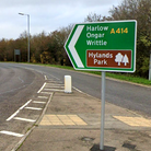 A sign to Hylands Park in Chelmsford