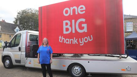 Deborah Slator, who runs the charity 'Defibrillators for all' was surprised and thanked by The One Show in Whittlesey