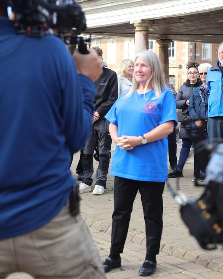 BBC's The One Show visited Whittlesey to surprise Deborah Slator (pictured) who runs the charity 'Defibrillators for all'.