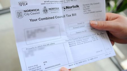 Norfolk County Council tax bill. Picture: Denise Bradley
