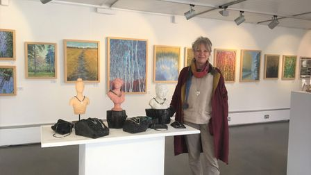 Carol Banks (pictured) who's work is on exhibition at Babylon Gallery in Ely.