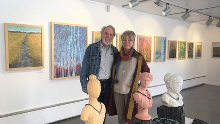 Artists and husband and wife duo Carol and Bob Banks' exhibition at Babylon Gallery in Ely is open until October 24.