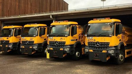 Gritters are prepared to salt icy roads this winter. Picture: SUFFOLK HIGHWAYS