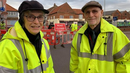 Marie and Mike Strong, the joint coordinator of the Wells flood action plan and flood warden