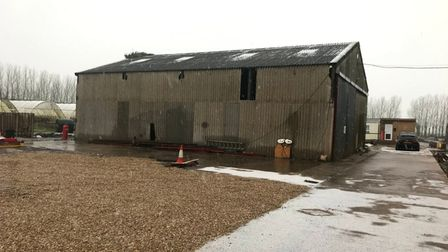 Exterior of old farm building in Marshland St James, near King's Lynn, before it was converted into a new home