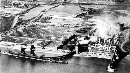 An aerial shot of the Ford Dagenham plant in 1935.