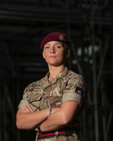 Lance Corporal May Percival, 23 Parachute Engineer Regiment, is a paratrooper involved in the search