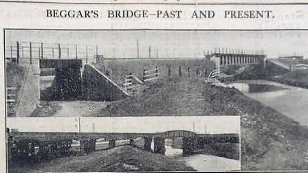 The old Beggars Bridge on LNER between March and Whittlesey