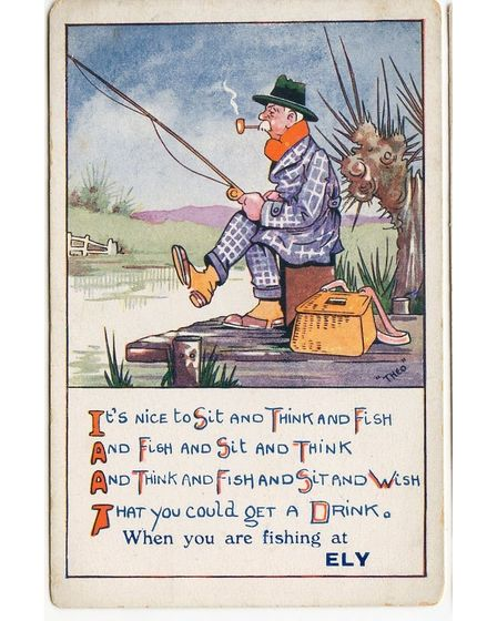 Fishing at Ely - historic humour