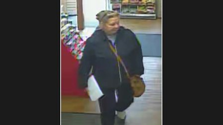 Woman police want to talk to in connection with a stolen purse