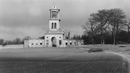 Black and white photo of Gunton Park, Norfolk, which has just won an award for its restoration