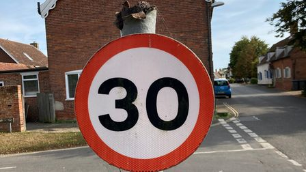 Rusted and broken - it's a similar story for many of Suffolk's road signs