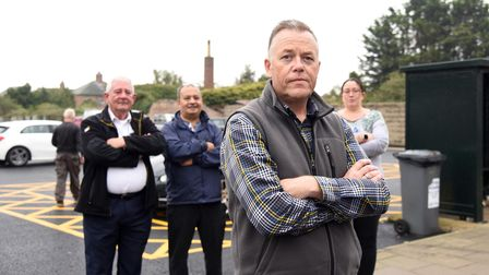 Local people of Leiston angry after their highstreet car park has been down sized PICTURE: CHARLOTT