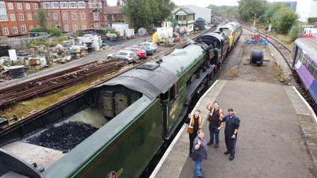 Dereham Mid Norfolk Railway Station, Flying Scotsman being moved for cleaning. Pictures: Brittany Wo