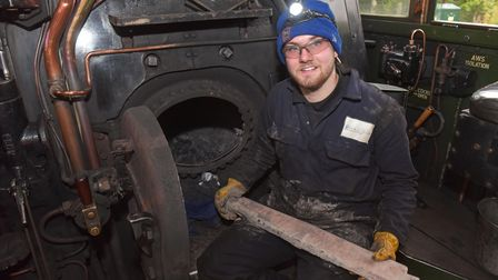 Josh part of the Mid Norfolk Railway team inside the Flying Scotsman. Pictures: Brittany Woodman