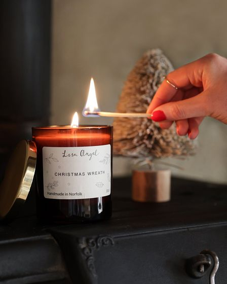 Made in Norfolk Mulled wine candle, £18, Lisa Angel, Norwich