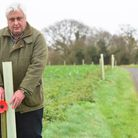 An avenue of Oak Tree's have been planted in Aldeby to mark the lives of the villagers who died duri