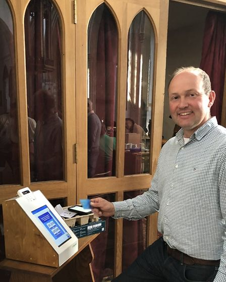 The machines were installed across Suffolk's churches in September