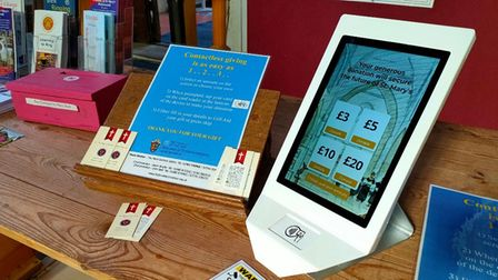 New card readers make it easier for church-goers in Suffolk to donate