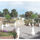 An artist's impression of how the entrance to Belle Vue Park could look