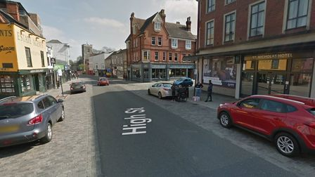 The incident happened in Colchester's High Street on Saturday evening