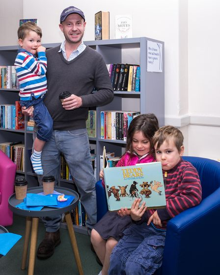 Visitors to Great Dunmow's new Book Hub on opening day