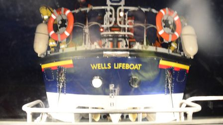 A Norfolk fishing vessel had got into trouble 16 miles off the coast of Wells.