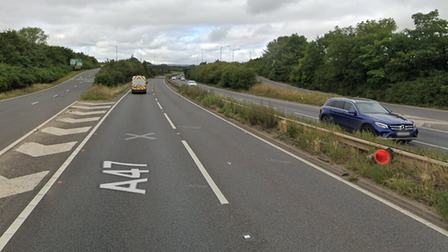 A Volkswagen Golf and a BMW have collided on the A47 this morning.