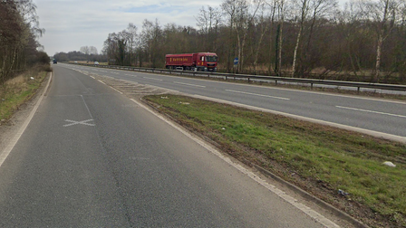 This morning's incident meant the slip road was partially blocked at 7am close to the A11.