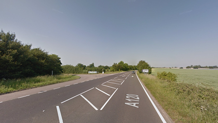 The crash is partially blocking the A120