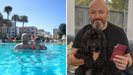 Steve and Louise, from Dereham, are finally enjoying their holiday in Cyprus