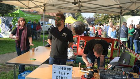Local business such as Ely Radio were at Ely's Apple and Harvest Fayre.