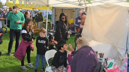 There was something for everyone to enjoy at Ely's Apple and Harvest Fayre. Children queued for the face painting.