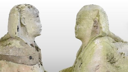 These two ancient Egyptian sphinxes sold at Manders Auction House in Sudbury, Suffok for almost £200k