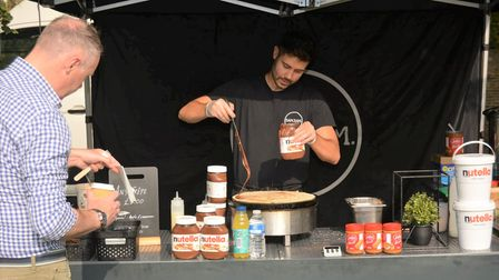 Food lovers were able to experience the taste of a fresh pancake at Ely's Apple and Harvest Fayre.