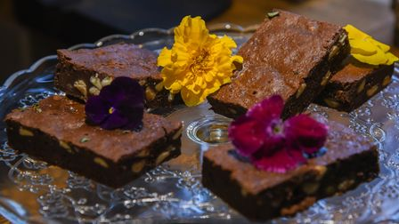 Cakes for sale at Trio's restaurant in St Peter's Hall, Bungay. Picture: Danielle Booden