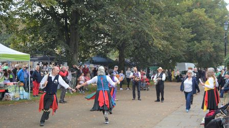 Folk dancers played their part at Ely's Apple and Harvest Fayre by entertaining the crowds.