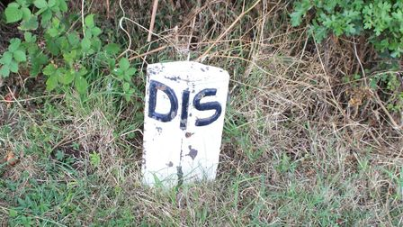 A lock distance marker at Marston Doles, Oxford Canal